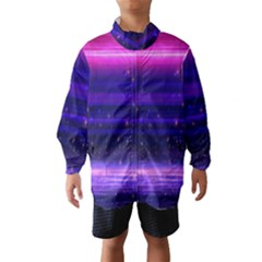 Space Planet Pink Blue Purple Wind Breaker (kids) by Alisyart