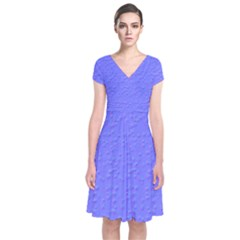 Ripples Blue Space Short Sleeve Front Wrap Dress by Alisyart