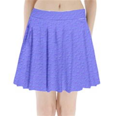 Ripples Blue Space Pleated Mini Skirt by Alisyart