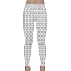 Violence Head On King Purple White Flower Classic Yoga Leggings by Alisyart