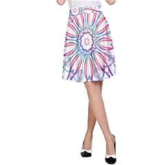 Frame Star Rainbow Love Heart Gold Purple Blue A Line Skirt by Alisyart