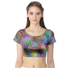Glass Rainbow Color Short Sleeve Crop Top (tight Fit) by Alisyart