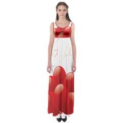 Balloon Partty Red Empire Waist Maxi Dress by Alisyart