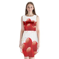 Balloon Partty Red Sleeveless Chiffon Dress   by Alisyart