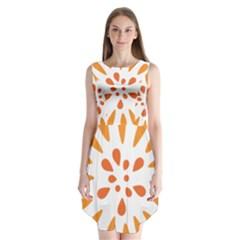 Circle Orange Sleeveless Chiffon Dress   by Alisyart