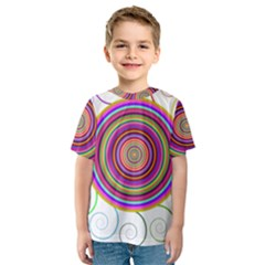 Abstract Spiral Circle Rainbow Color Kids  Sport Mesh Tee by Alisyart