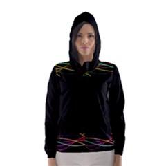 Colorful Light Frame Line Hooded Wind Breaker (women) by Alisyart