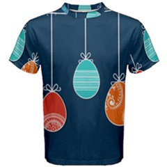 Easter Egg Balloon Pink Blue Red Orange Men s Cotton Tee by Alisyart