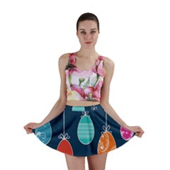 Easter Egg Balloon Pink Blue Red Orange Mini Skirt by Alisyart