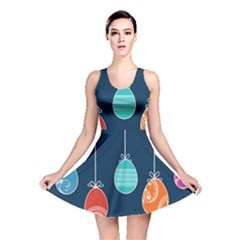 Easter Egg Balloon Pink Blue Red Orange Reversible Skater Dress by Alisyart