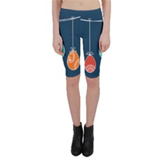 Easter Egg Balloon Pink Blue Red Orange Cropped Leggings  by Alisyart