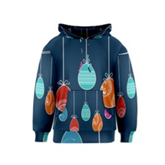 Easter Egg Balloon Pink Blue Red Orange Kids  Pullover Hoodie by Alisyart