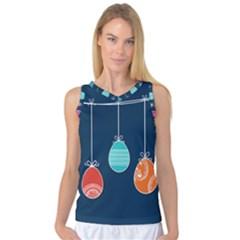 Easter Egg Balloon Pink Blue Red Orange Women s Basketball Tank Top by Alisyart