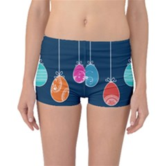 Easter Egg Balloon Pink Blue Red Orange Boyleg Bikini Bottoms by Alisyart
