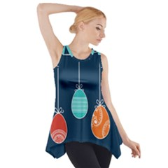 Easter Egg Balloon Pink Blue Red Orange Side Drop Tank Tunic by Alisyart