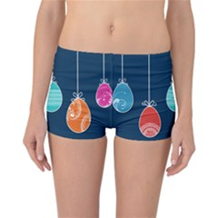 Easter Egg Balloon Pink Blue Red Orange Reversible Bikini Bottoms by Alisyart