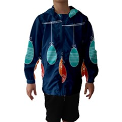 Easter Egg Balloon Pink Blue Red Orange Hooded Wind Breaker (kids) by Alisyart
