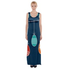 Easter Egg Balloon Pink Blue Red Orange Maxi Thigh Split Dress by Alisyart