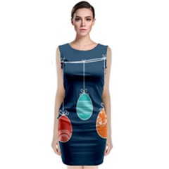 Easter Egg Balloon Pink Blue Red Orange Classic Sleeveless Midi Dress by Alisyart