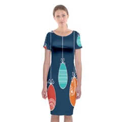 Easter Egg Balloon Pink Blue Red Orange Classic Short Sleeve Midi Dress by Alisyart