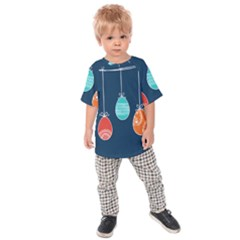 Easter Egg Balloon Pink Blue Red Orange Kids  Raglan Tee by Alisyart