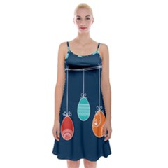 Easter Egg Balloon Pink Blue Red Orange Spaghetti Strap Velvet Dress by Alisyart