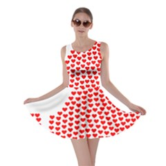 Heart Love Valentines Day Red Sign Skater Dress by Alisyart