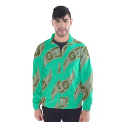 Money Dollar $ Sign Green Wind Breaker (men) by Alisyart