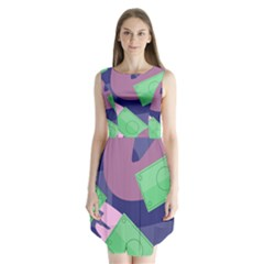 Money Dollar Green Purple Pink Sleeveless Chiffon Dress   by Alisyart