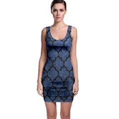 Tile1 Black Marble & Blue Stone (r) Bodycon Dress by trendistuff