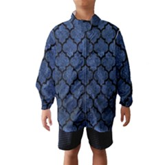 Tile1 Black Marble & Blue Stone (r) Wind Breaker (kids) by trendistuff