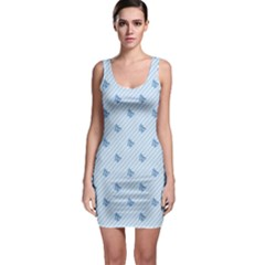 Blue Butterfly Line Animals Fly Sleeveless Bodycon Dress by Alisyart