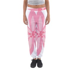 Pink Lily Flower Floral Women s Jogger Sweatpants