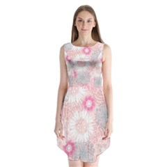 Flower Floral Sunflower Rose Pink Sleeveless Chiffon Dress   by Alisyart