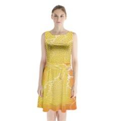 Exotic Backgrounds Sleeveless Chiffon Waist Tie Dress by Simbadda