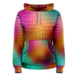 Colourful Weave Background Women s Pullover Hoodie by Simbadda