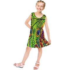 Peacock Feathers Kids  Tunic Dress by Simbadda