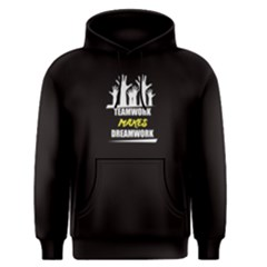 Black Teamwork Makes Dreamwork Men s Pullover Hoodie by FunnySaying