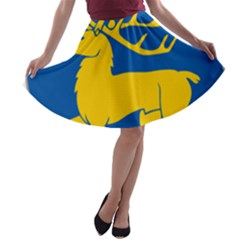 Coat Of Arms Of Aland A Line Skater Skirt by abbeyz71