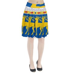 Coat Of Arms Of Aland Pleated Skirt by abbeyz71