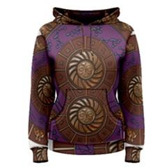 Zodiak Zodiac Sign Metallizer Art Women s Pullover Hoodie