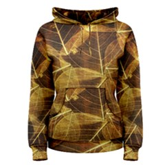 Leaves Autumn Texture Brown Women s Pullover Hoodie