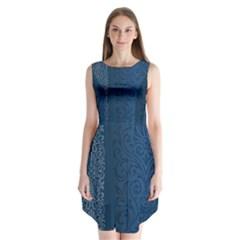 Fabric Blue Batik Sleeveless Chiffon Dress   by Alisyart