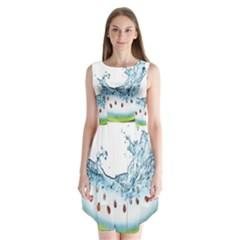 Fruit Water Slice Watermelon Sleeveless Chiffon Dress   by Alisyart
