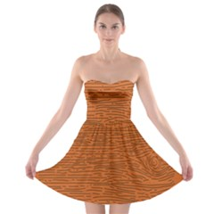 Illustration Orange Grains Line Strapless Bra Top Dress by Alisyart