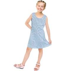 Leaf Blue Kids  Tunic Dress by Alisyart