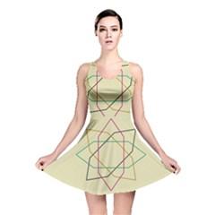 Shape Experimen Geometric Star Sign Reversible Skater Dress by Alisyart