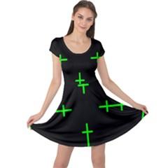 Sniper Focus Cap Sleeve Dresses