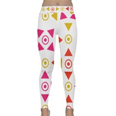 Spectrum Styles Pink Nyellow Orange Gold Classic Yoga Leggings by Alisyart