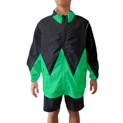 Soaring Mountains Nexus Black Green Wind Breaker (kids) by Alisyart